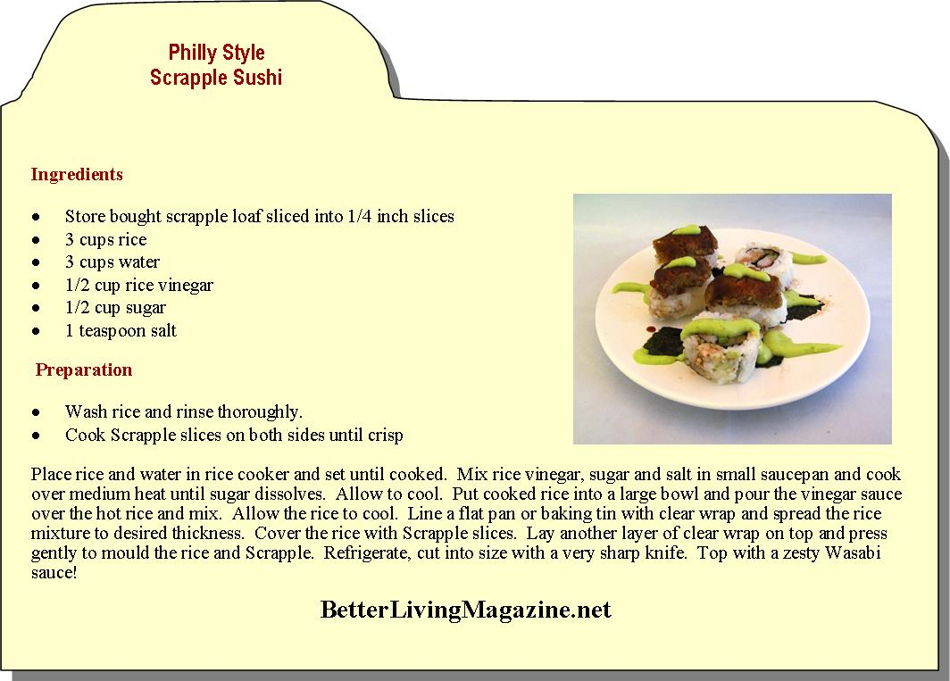 Philly Style Scrapple Sushi